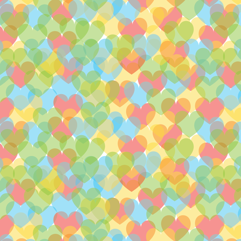 Colorful Hearts fabric by witee on Spoonflower - custom fabric