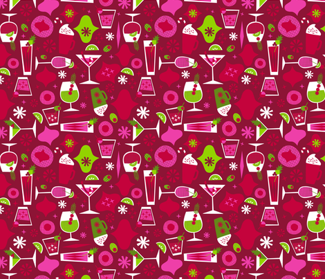 Christmas Spirits fabric by acbeilke on Spoonflower - custom fabric