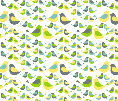 birds fabric by sraka on Spoonflower - custom fabric