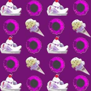 Ice Cream Sundaes Purple