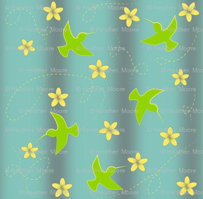 Hummingbirds-and-flowers