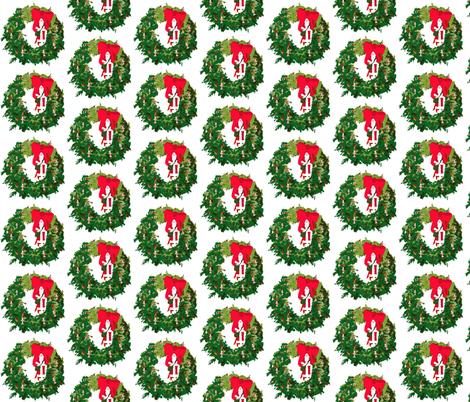 Christmas, Santa Wreaths fabric by karenharveycox on Spoonflower - custom fabric
