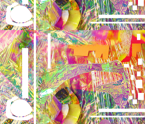 Joy Monster Print 2 fabric by sparklezilla on Spoonflower - custom fabric