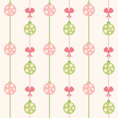 Ornaments Hung with Care fabric by sugarxvice on Spoonflower - custom fabric
