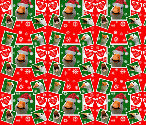 Sebastopol Goose HOLIDAY Wrapping Paper Gift Wrap fabric by leesa3 on Spoonflower - custom fabric