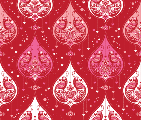 You are my Flight of Fancy- Christmas fabric by cynthiafrenette on Spoonflower - custom fabric
