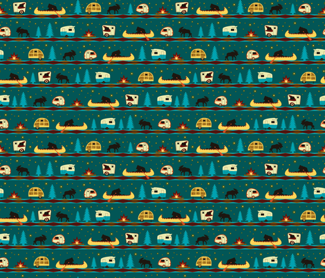 Camp Firefly_Mini fabric by wendy_lin on Spoonflower - custom fabric