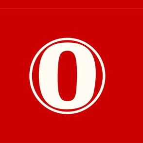 Number Zero red