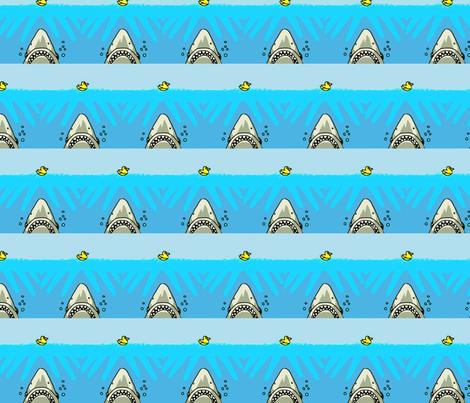 shark versus duck fabric by andybee on Spoonflower - custom fabric