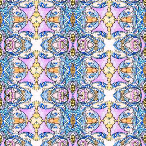 Persian Garden fabric by edsel2084 on Spoonflower - custom fabric