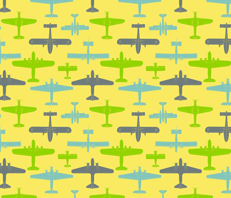 I Dream of Flying - yellow fabric by ruthevelyn on Spoonflower - custom fabric