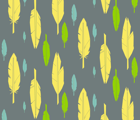 feathersfeathersfeathers fabric by edlasher on Spoonflower - custom fabric