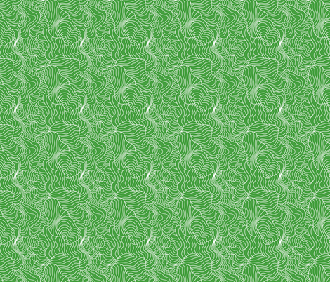Crazy Contours Green fabric by melaniesullivan on Spoonflower - custom fabric