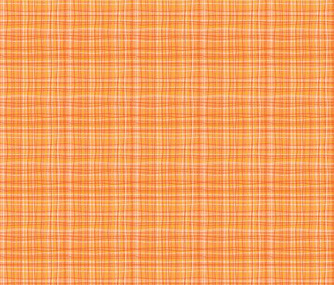 Wavy Wovens Orange fabric by melaniesullivan on Spoonflower - custom fabric