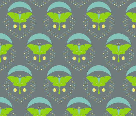 Double Luna Damask fabric by modgeek on Spoonflower - custom fabric