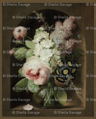 Georg_frederik_ziesel_-_roses_hyacinth_and_other_flowers_in_a_glass_vase_in_a_stone_niche2_preview