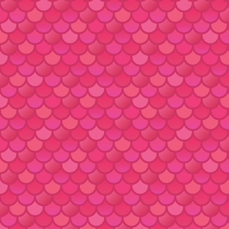 Mermaid fish scales in pink fabric by little_fish on Spoonflower - custom fabric