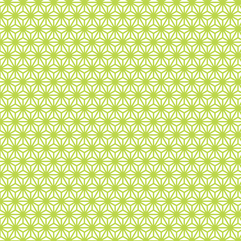 asanoha mini in peridot fabric by chantae on Spoonflower - custom fabric