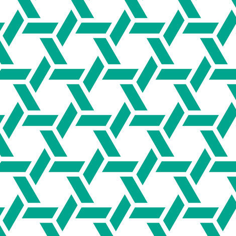 kagome thick in emerald fabric by chantae on Spoonflower - custom fabric