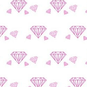 Diamonds are forever - hot pink on white