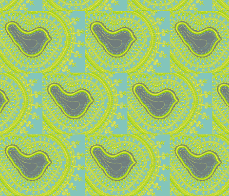 Painted Bird fabric by joonmoon on Spoonflower - custom fabric