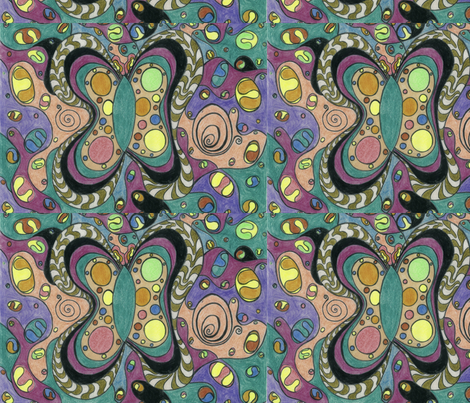 Butterflyodelic fabric by deborah_palmarini on Spoonflower - custom fabric