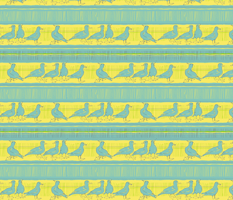 gulls fabric by woodledoo on Spoonflower - custom fabric