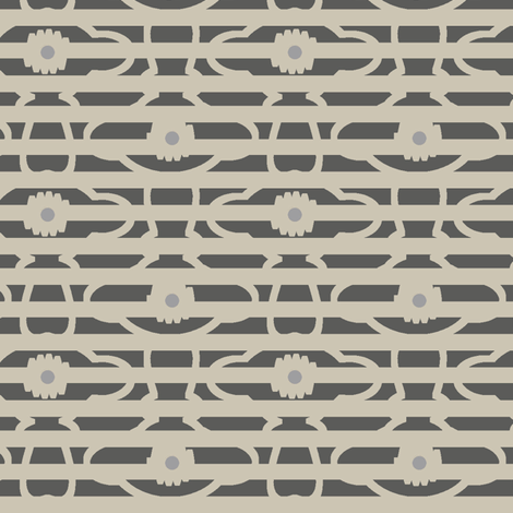 Ursula Grey fabric by david_kent_collections on Spoonflower - custom fabric