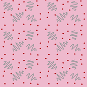 Pink ziggy dot