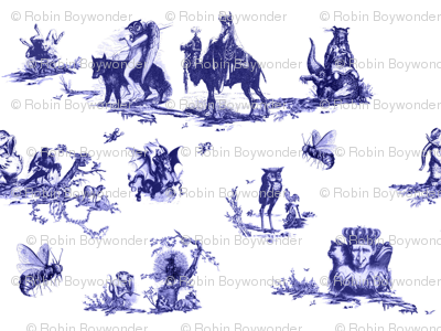 Demonology Toile blue