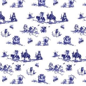 Demonology Toile blue