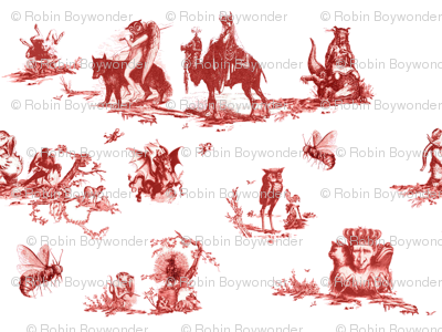 Demonology toile red