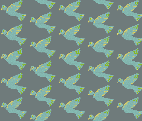 birdmosaic_2 fabric by melissssaf on Spoonflower - custom fabric