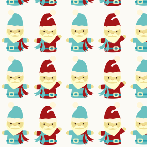 Santas fabric by sugarxvice on Spoonflower - custom fabric