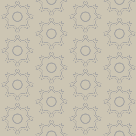 Kabbalah Star (Taupe) fabric by david_kent_collections on Spoonflower - custom fabric