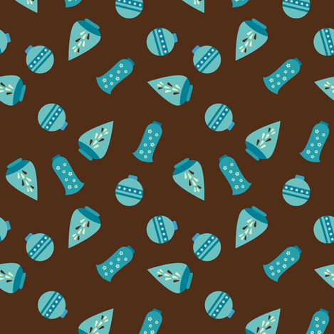 Blue Ornaments fabric by sugarxvice on Spoonflower - custom fabric