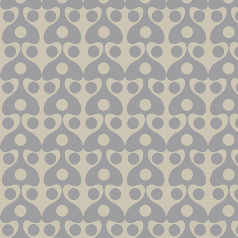 Mushroom (Taupe Grey) fabric by david_kent_collections on Spoonflower - custom fabric