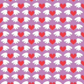 Winged hearts (purple)