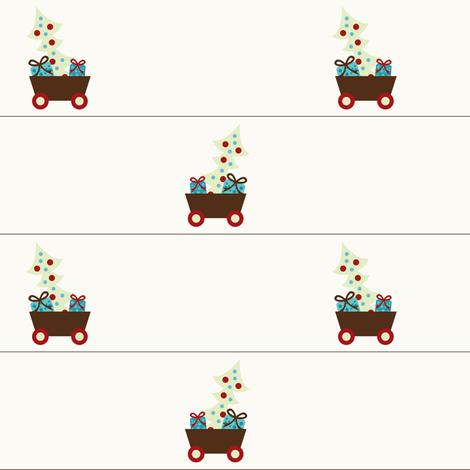Christmas Cart fabric by sugarxvice on Spoonflower - custom fabric