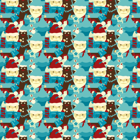 Country Christmas Collage fabric by sugarxvice on Spoonflower - custom fabric