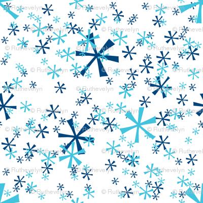 Winter Wonderland Snowflakes - white