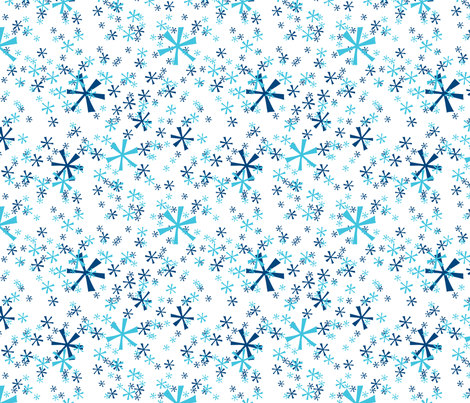 Winter Wonderland Snowflakes - white fabric by ruthevelyn on Spoonflower - custom fabric
