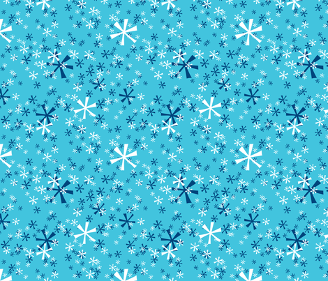 Winter Wonderland Snowflakes - tourquois fabric by ruthevelyn on Spoonflower - custom fabric