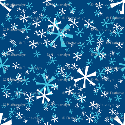 Winter Wonderland Snowflakes - navy