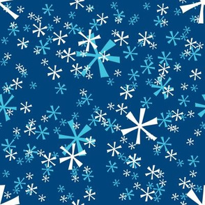 Winter Wonderland Snowflakes - navy