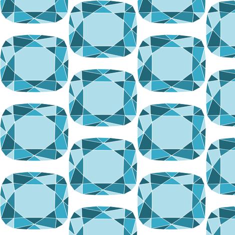 Blue gem fabric by loopy_canadian on Spoonflower - custom fabric