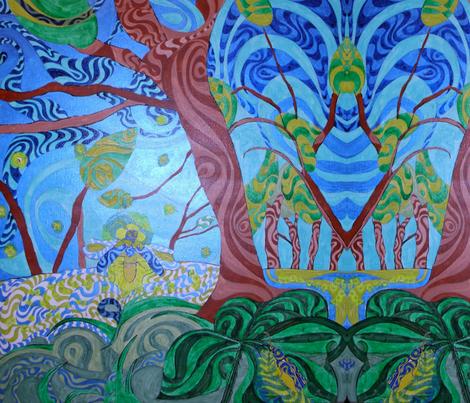 Night Light Bug fabric by deborah_palmarini on Spoonflower - custom fabric