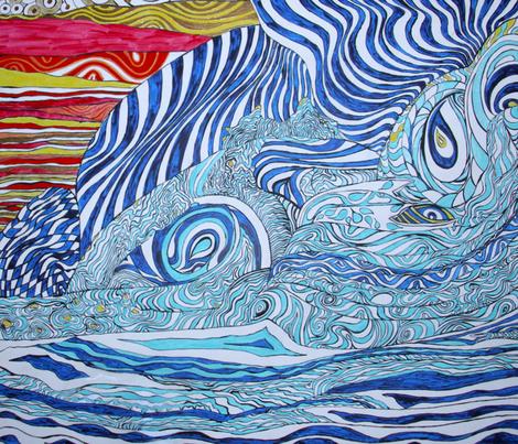 Love Wave fabric by deborah_palmarini on Spoonflower - custom fabric