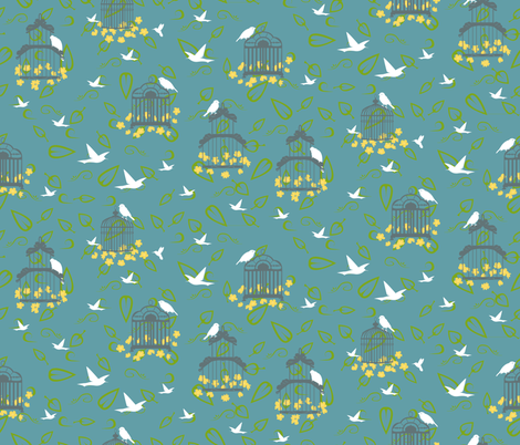 Birds of Whimsey 2012 fabric by nikky on Spoonflower - custom fabric