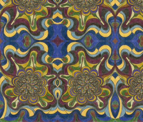 FlowerWhirl fabric by deborah_palmarini on Spoonflower - custom fabric